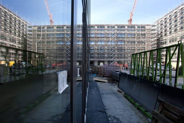Die Bauarbeiten auf der Baustelle Europaallee kommen planmaessig voran