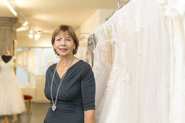 Priska Louis ist die Grande Dame der hiesigen Brautmode.