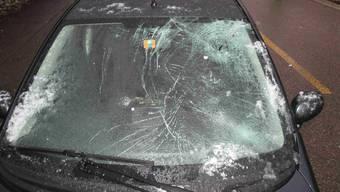 Auto erfasst Fussgänger in Stein AG (28.01.2019)