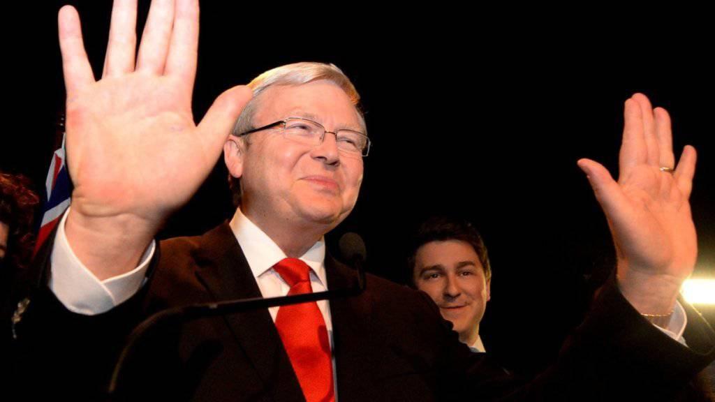Wirft seinen Hut in den Ring: Australiens ehemaliger Premier Kevin Rudd will für das Amt des UNO-Generalsekretärs kandidieren. (Archivbild)