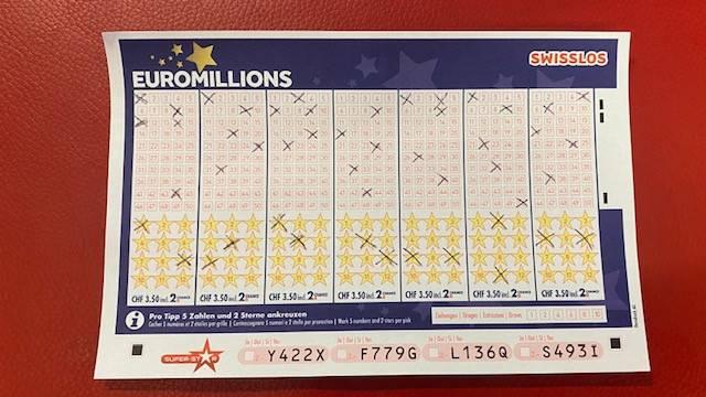 EuroMillions-Jackpot wurde nicht geknackt