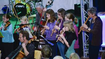 Die Musikschule Solothurn in Aktion an der HESO 2014. (Archiv)