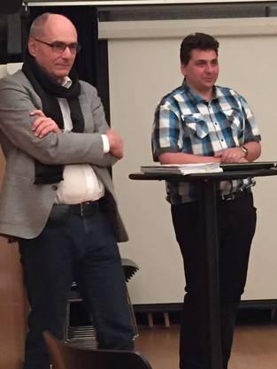 Hauptreferenten Johannes Felber (Altstadtrat CVP) und Daniel Gerber (Sozialdiakon ref Kirche)