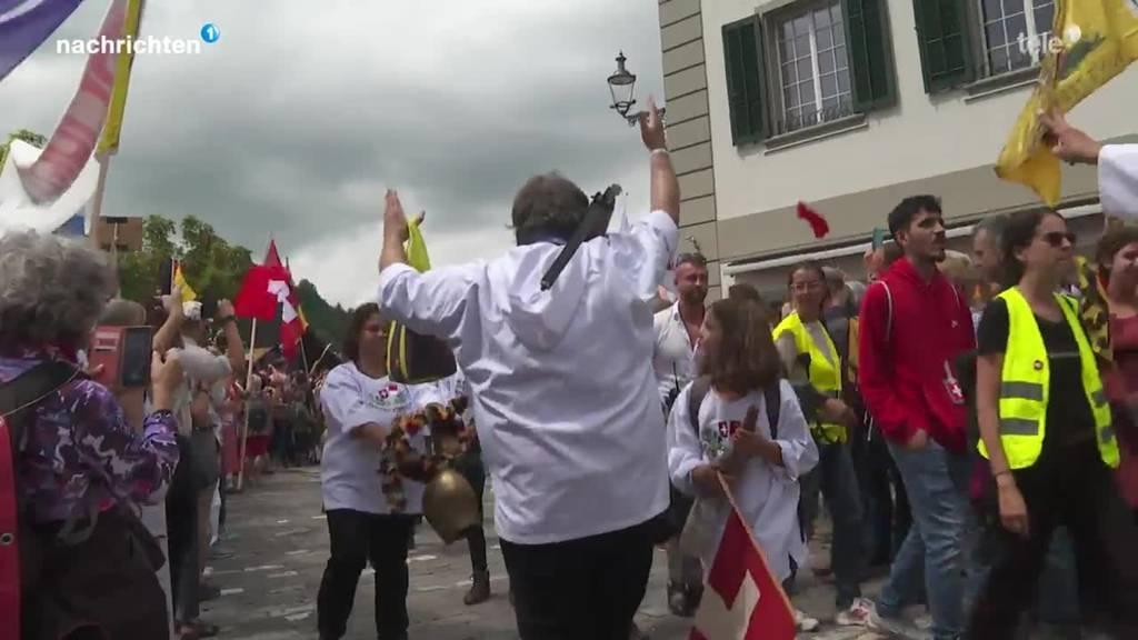 Coronakundgebungen in Luzern