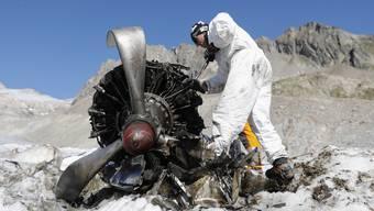 Schweizer Luftwaffe bergt Dakota