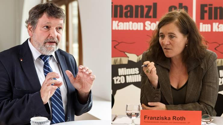 Roland Heim und Franziska Roth stritten sich am Montag in Solothurn. (Archiv)