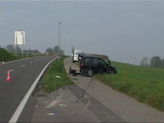 Nach der Kollision wurde der Wagen etwa 20 Meter nach vorne geschoben.