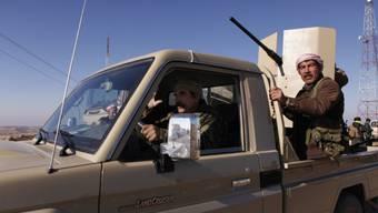 Kurdische Kämpfer in der Sindschar-Region