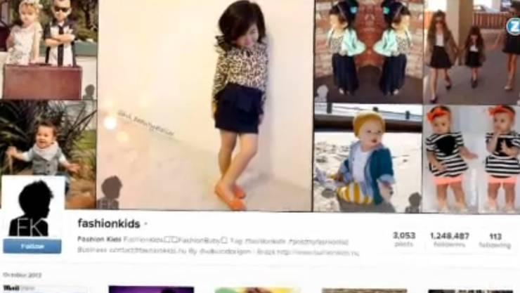 Auf der Instagramm-Seite Fashionkids können Eltern Bilder von ihren Kindern teilen.