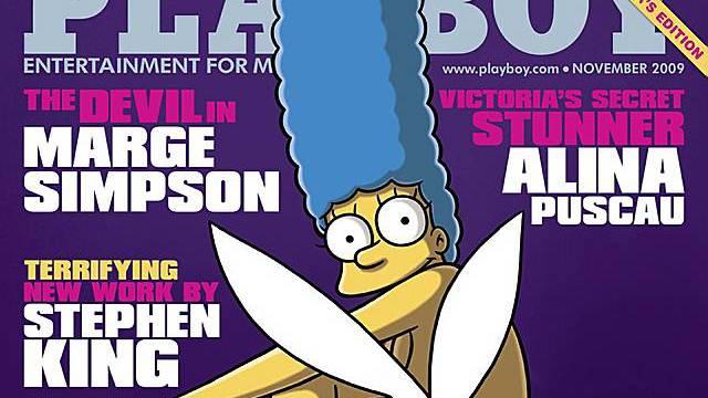 Neue Playboy-Ausgabe mit Marge Simpson