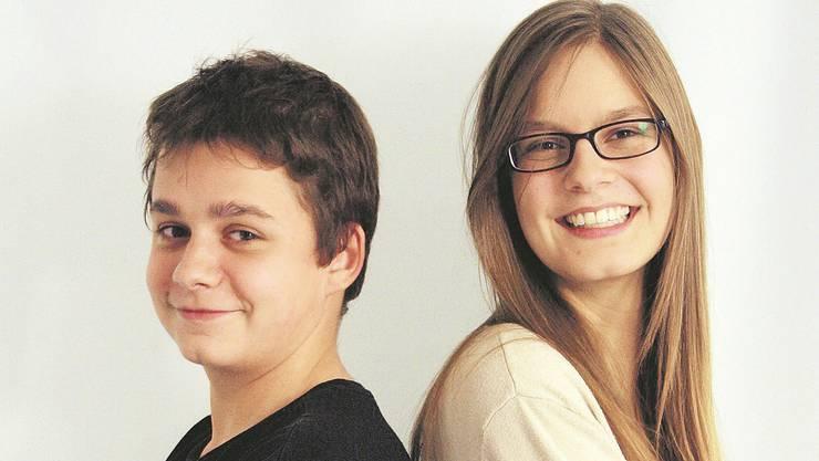 Auch wenn Andreas Leupi (15) und Nadine Burtscher (18) nicht immer gleicher Meinung sind, an der Jugendsession arbeiten sie als Team.