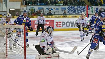 Schwarzer Abend für Biels Goalie Lukas Meili.