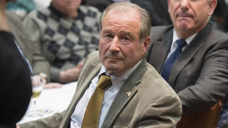 Maximilian Reimann an der Delegiertenversammlung der SVP Kanton Aargau.