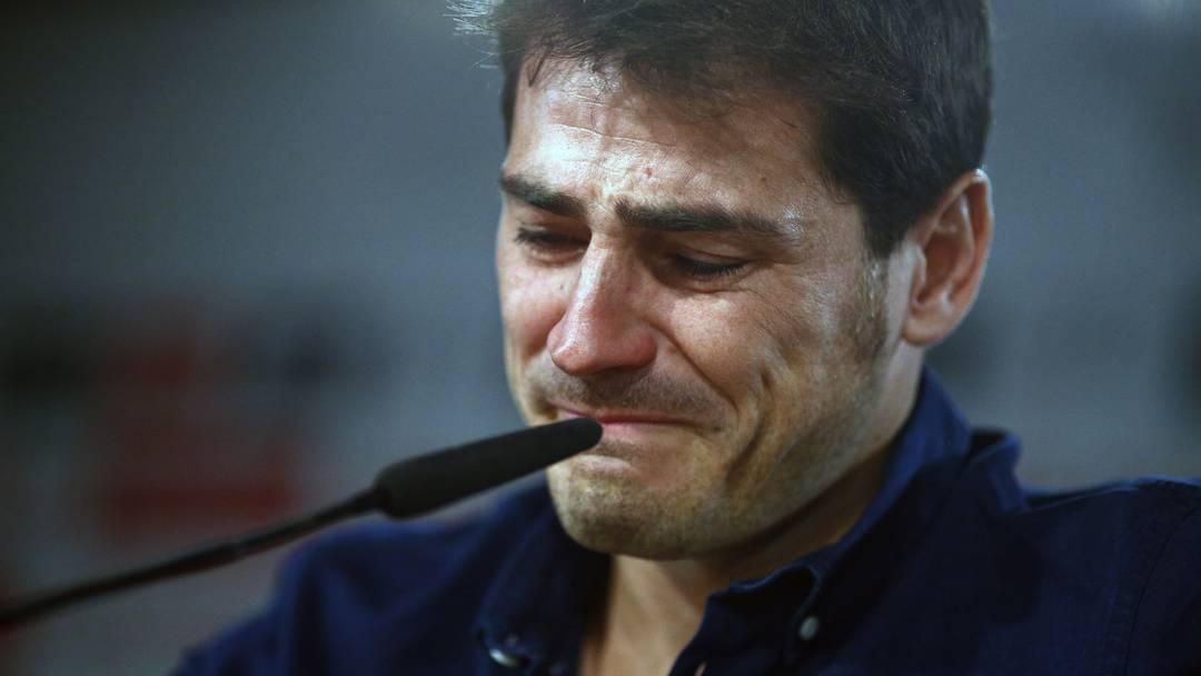 Mit Tränen in den Augen verabschiedet sich Iker Casillas nach 26 Jahren Real Madrid