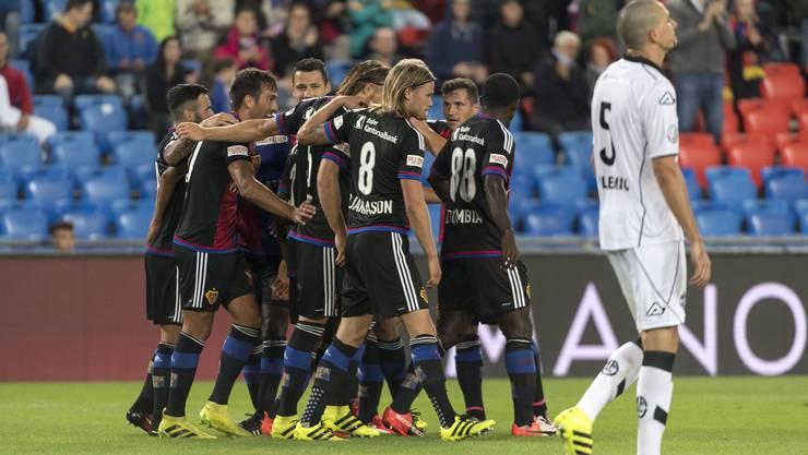 Basler Jubel über den 4:1-Sieg gegen die Luganesi.