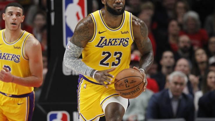 LeBron James lief erstmals im Trikot der Los Angeles Lakers auf