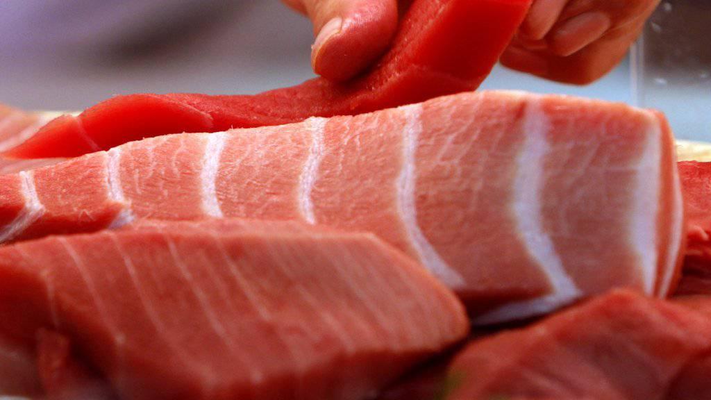 Am G7-Gipfel in Biarritz (F) wurde den Staats- und Regierungschefs gefährdeter roter Thunfisch aufgetischt. (Symbolbild)