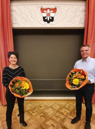 Sandra Kolly-Altermatt beim Besuch an der GV der Ortspartei CVP Schönenwerd. An der Versammlung wurde Daniel Mertenat für die CVP als GR- und Kantonsratskandidat nominiert.