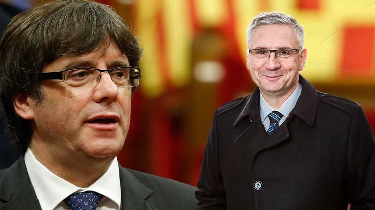 Puigdemont y Señor Glarner