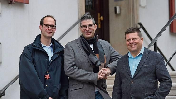 FDP-Vormacht im Stadthaus: Thomas Locher (neu), Pascal Bolliger (bisher) und Simon Felix (bisher).