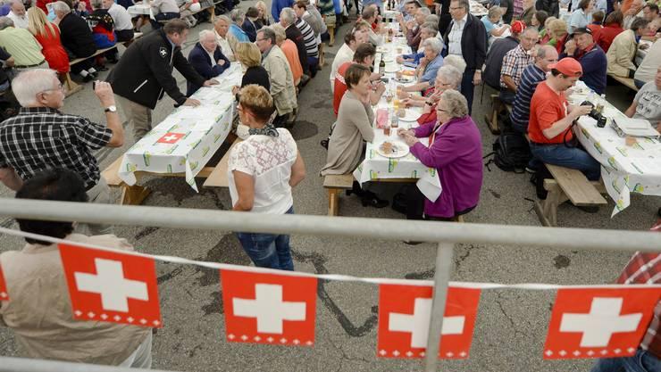 1. August, die Schweiz feiert gesellig.