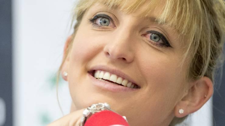 Guter Dinge: Timea Bacsinszky führt das Schweizer Fedcup-Team gegen Tschechien an