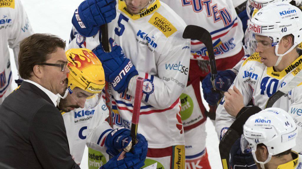Klotens Cheftrainer Pekka Tirkkonen konnte seine Spieler in Biel nicht zum Sieg führen