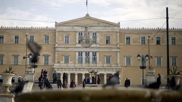 Das Parlamentsgebäude in Athen.
