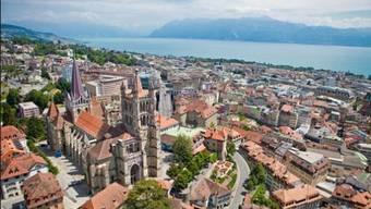 Panorama von Lausanne.
