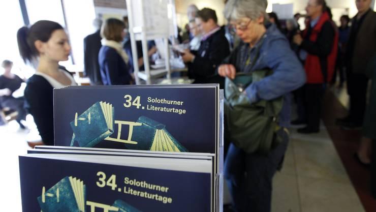 Grossaufmarsch an den Literaturtagen Solothurn, wo sich alles um Bücher dreht