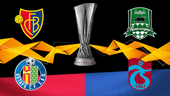 Der FC Basel trifft in der Gruppenphase der Europa League auf Krasnodar, Trabzonspor und Getafe (im Uhrzeigersinn).