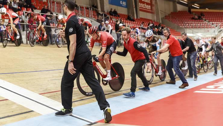 Schweizer Meisterschaft im Omnium, 1. Scratch, Männer Elite, Velodrome Grenchen