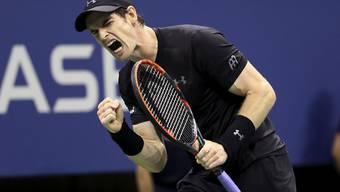 On Fire: Andy Murray zeigte im US-Open-Achtelfinal gegen Grigor Dimitrov eine nahezu perfekte Leistung