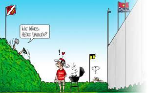 Die Fusionsgelüste aus der Sicht von AZ-Karikaturist Silvan Wegmann.
