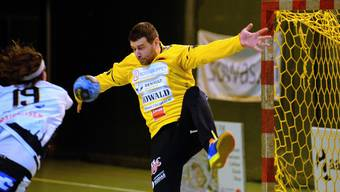 Goalie Rados Dukanovic war mitverantwortlich, dass die Handballmannschaft des TV Solothurn nach dem letzten Spiel am Samstag die beste Defensive in der NLB stellt.