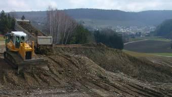 Die Buchselhalde liegt auf Gemeindegebiet von Tegerfelden und Döttingen.