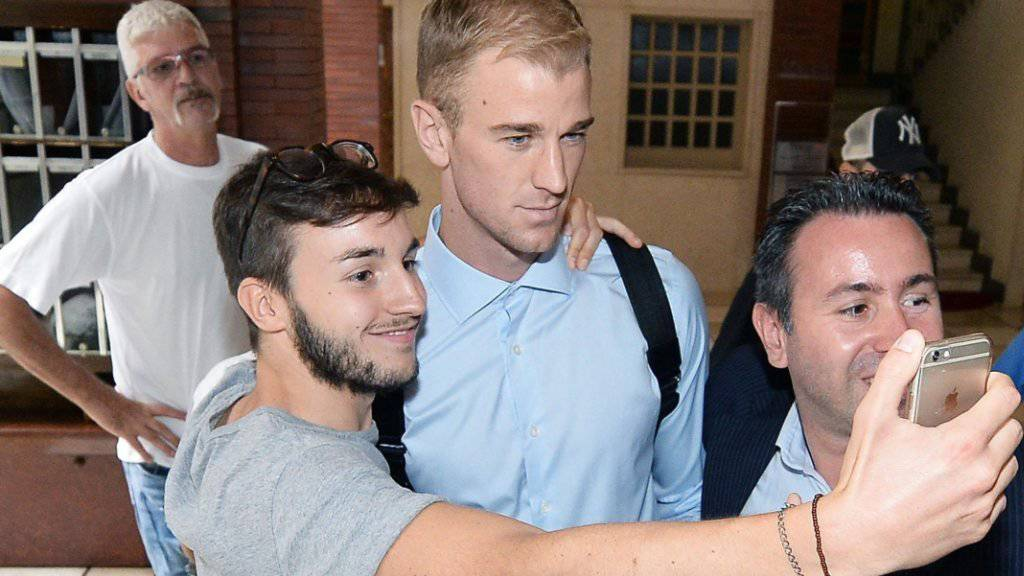 In Turin gefragter als bei Manchester City: Joe Hart (im hellblauen Hemd)