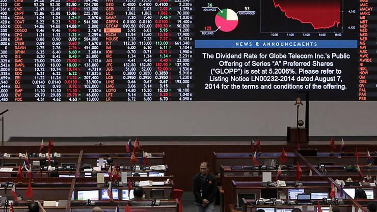 Die Börse in Manila bleibt ab Dienstag geschlossen - die Gesundheit der Händler wird als Begründung der Behörden angeführt. (Archivbild)