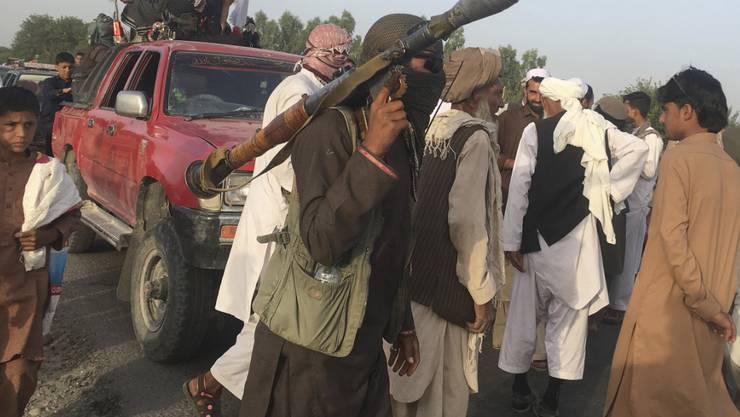 Taliban-Kämpfer östlich von Kabul (Aufnahme vom Juni 2018).