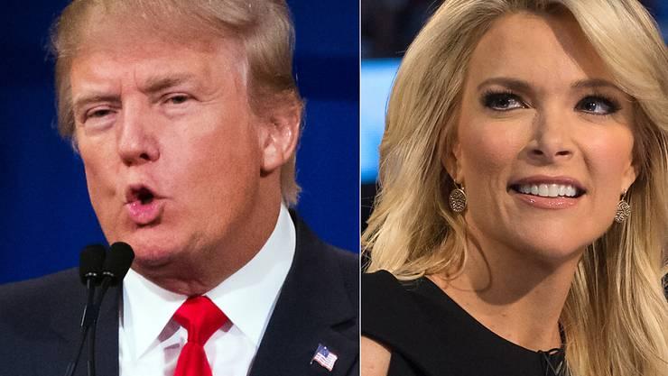 Haben ihren Streit beigelegt: US-Präsidentschaftsbewerber Donald Trump und TV-Moderatorin Megyn Kelly. (Archiv)