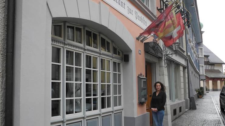 Pinar Dindar wird künftig in der Laufenburger «Probstei» ihre Gäste bewirten. mf