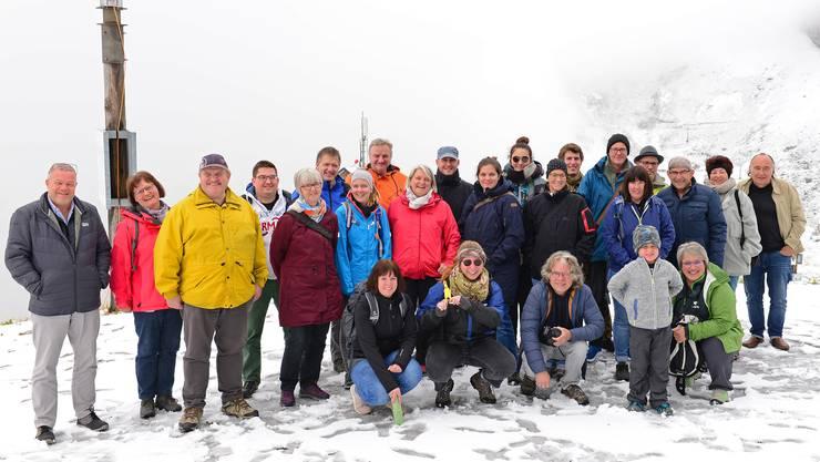 Im Schnee auf La Berneuse