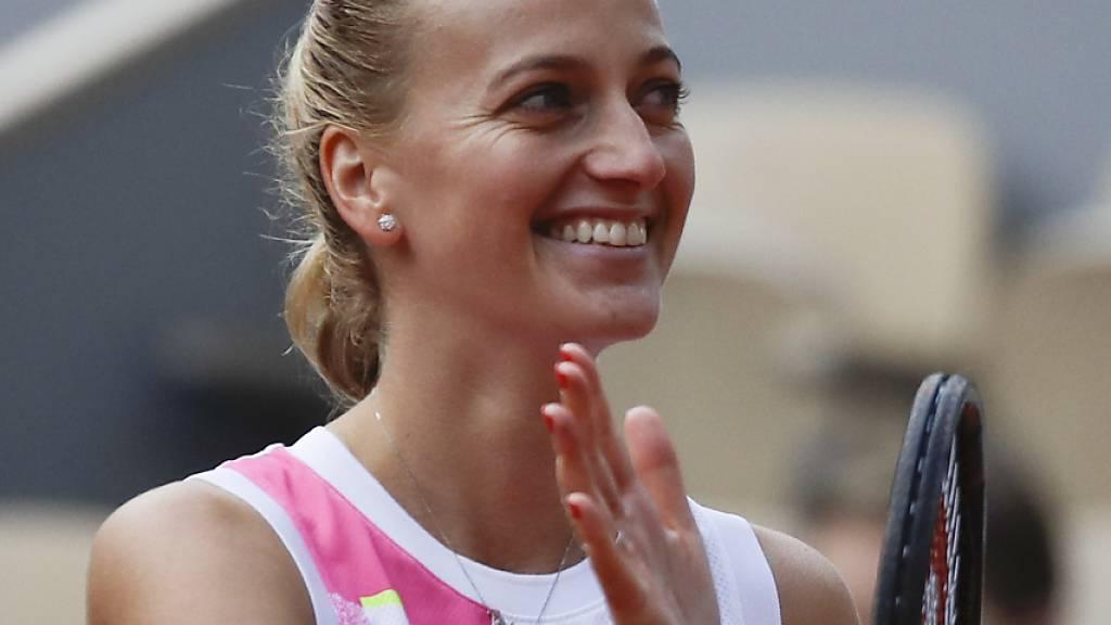 Sie hat gut lachen: Petra Kvitova steht am French Open zum zweiten Mal im Halbfinal