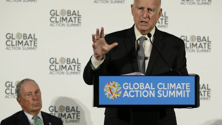 """""""Wir starten unseren eigenen verdammten Satelliten"""": der Gouverneur des US-Bundesstaats Kalifornien, Jerry Brown."""