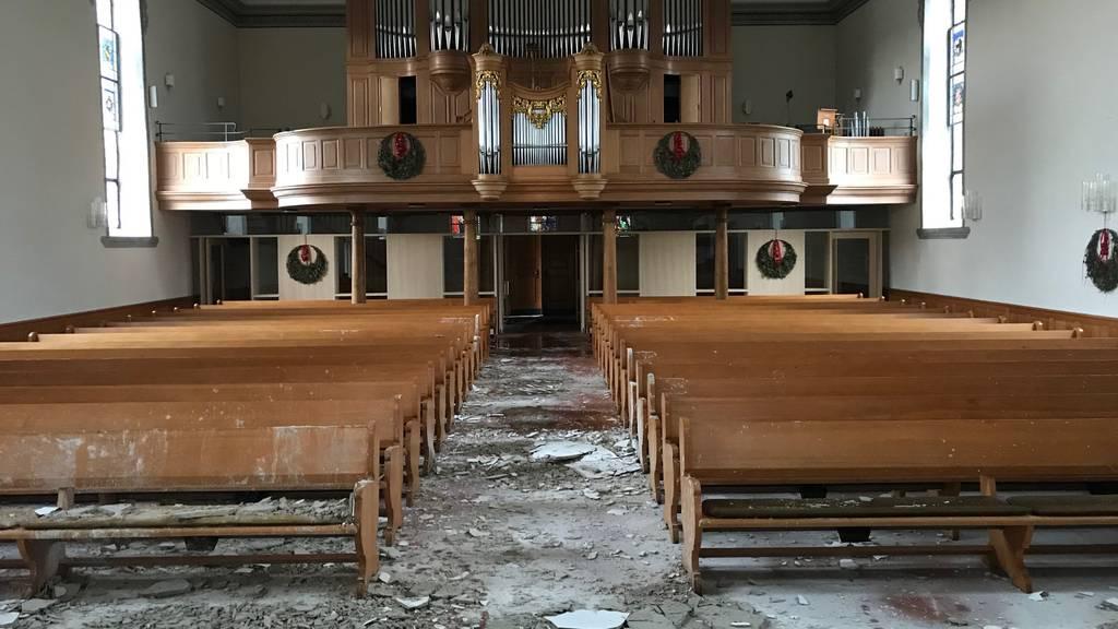 So sieht es in der Kirche nach dem Grossbrand aus