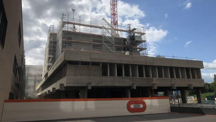 Das alte Spital Limmattal ist schon stark zurückgebaut. (Stand: 21.08.2019)