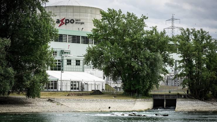 Hier fliesst das Kühlwasser aus dem Atomkraftwerk Beznau zurück in die Aare – und erwärmt den Fluss.