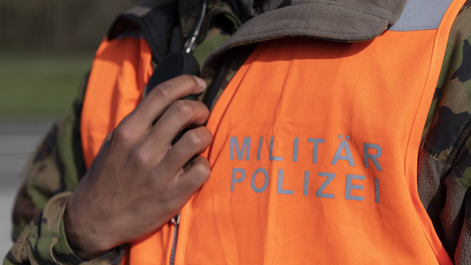 An der Schweizer Grenze ist Militärpolizei im Einsatz.