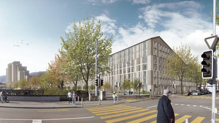 Visualisierung des geplanten Neubaus.