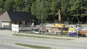Die Rückbauarbeiten bei der ARA Welschenrohr sind in vollem Gang.